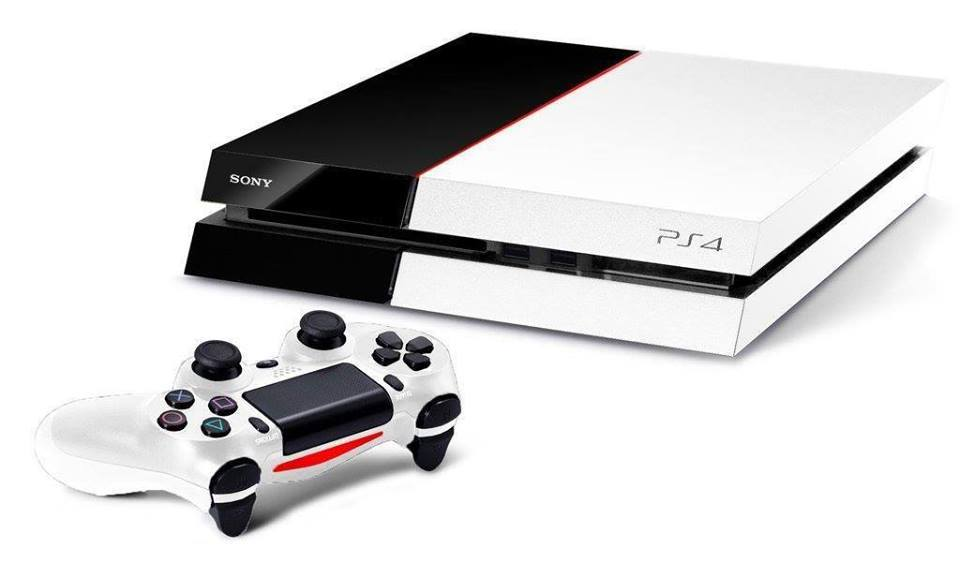 how about a white ps4 with orange trim. Black Bedroom Furniture Sets. Home Design Ideas