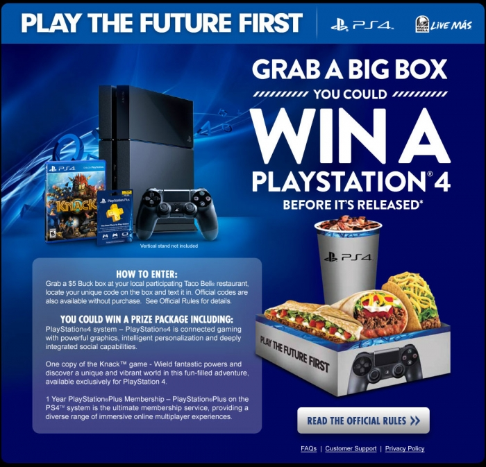 taco bell xbox one x giveaway win a free ps4 with taco bell cheats co 8114
