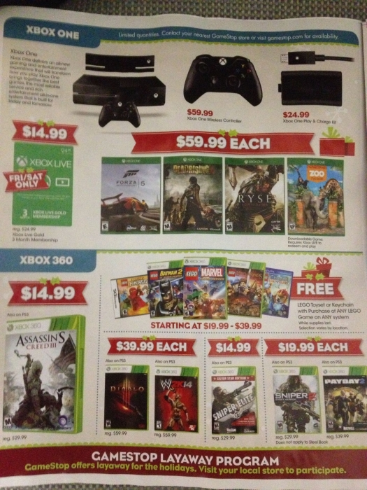 GameStop Black Friday Flyer Leaked - Cheats.co
