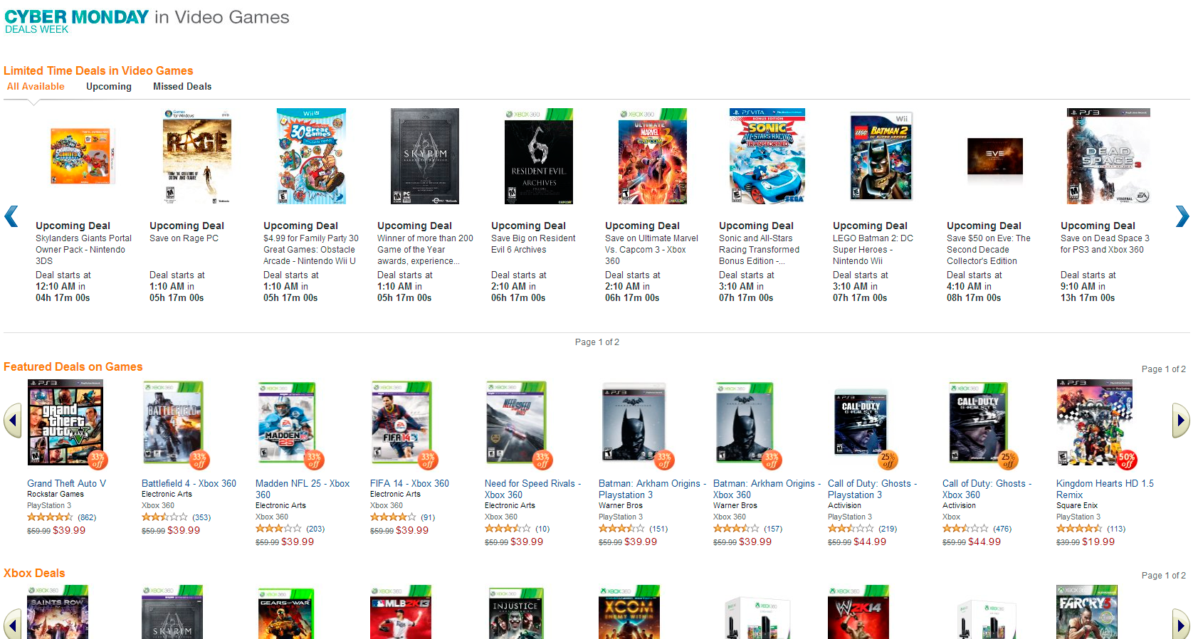 Amazon Cyber Monday Deals Include Xbox One Ps4 Offerings Cheats Co