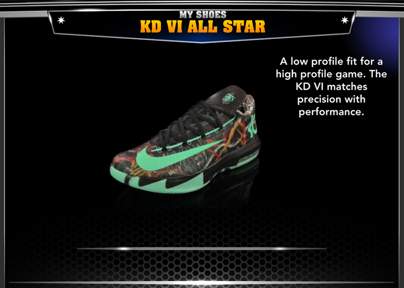 "... a part of the ""2K Shoes"" collection, including Nike LeBron 11 All-Star,  Nike KD VI All-Star, Nike Kobe 9 Elite Maestro, Li-Ning Way of Wade 2.0, ..."
