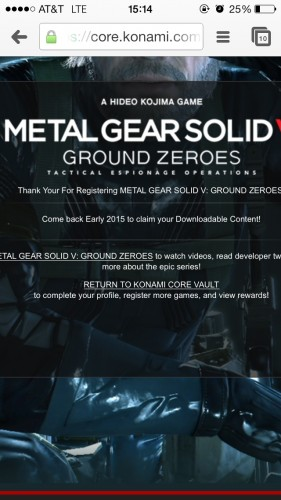 MGS V release day hint