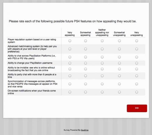 PS survey