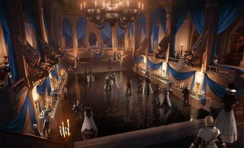 Dragon Age Halamshiral Winter Palace concept art
