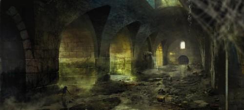Witcher 3 Novigrad canals concept art