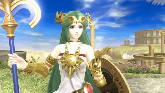 Smash Bros Palutena